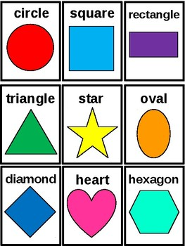 Shocking image regarding free printable shape flashcards