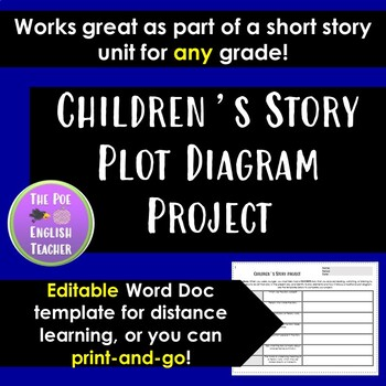 Children S Story Plot Diagram Project By The Poe English Teacher