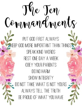 Children's Ten Commandments Wall Art