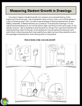 Children's art - Drawing Scales & Rubric for Student Assessment