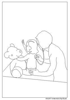 Children's doctor colouring sheets