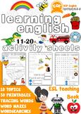 ESL Children's printable worksheets 11-20 Very Beginners