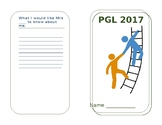 Children's 'secret' Information booklet for a residential visit.