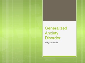 Children with Generalized Anxiety Disorder