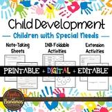 Children with Special Needs - Interactive Notebook Activities