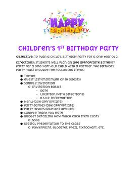 Children's 1st Birthday Party