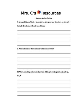 Children's Author Research Project