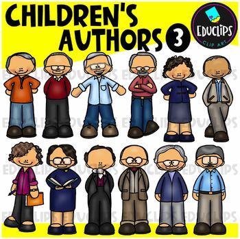 Children's Authors 3 Clip Art Bundle