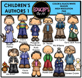Children's Authors Clip Art Bundle {Educlips Clipart}