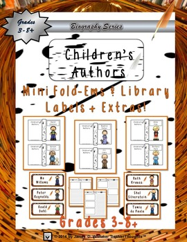 Children's Authors Mini Research Fold-Ems and Library Labels
