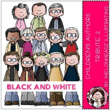 Children's Authors Tribute clip art Part 2 - BLACK AND WHITE - by Melonheadz