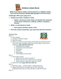 Story Elements Project, Children's Book Movie Project, Group Project, Rubric