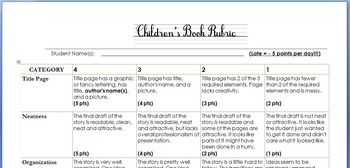 """Children's Book"" Project Rubric"