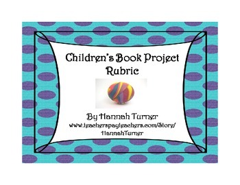 Children's Book Project Rubric