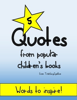 Children's Book Quote Posters