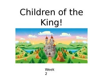 """Children's Church Series """"Children of the King"""" POWER POINT 5 Week Sunday School"""