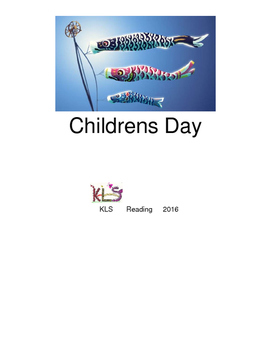 Childrens Day - Japan picture supported text lesson questions PDF format