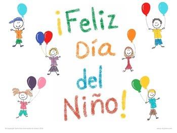 Children\'s Day Party Spanish Worksheets / Hojas de Actividades del ...
