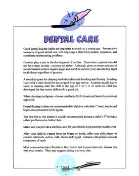 Children's Dental Care Lesson