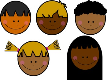 CLIPART - Cute Kid's Faces