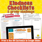 KINDNESS CHECKLISTS Kindness Challenge to Build Character