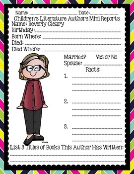 Children's Literature Author Mini-Study for Your Classroom Library