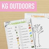 Children's Outdoor Activities: Scavenger Hunt & Tree Etching