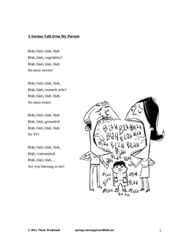 Children's Poetry - A Serious Talk