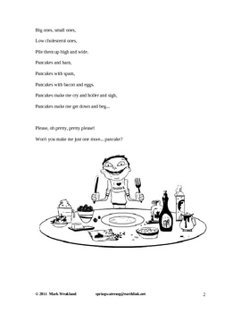 Children's Poetry - I Sure Love Pancakes