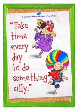FREE Children's Quotes for Teaching - Take the time every day