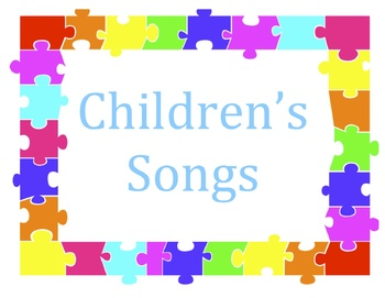 Children's Songs with visual aid
