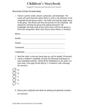 Children's Storybook Activity Template and Rubric