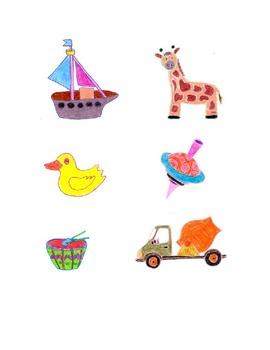 Children's Toys Colored Clip Art,giraffe,boat,truck,etc,Follow me some are free