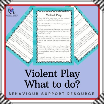 Childrens Violent Play - What to do?