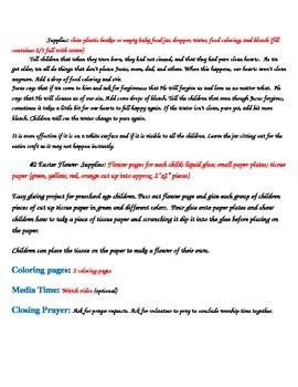 Children's Worship Easter Sunday Lesson Plan