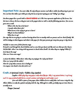 Children's Worship Lesson 2 Starting Up Unit Lesson Plan