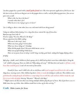 Children's Worship Lesson Plan Palm Sunday