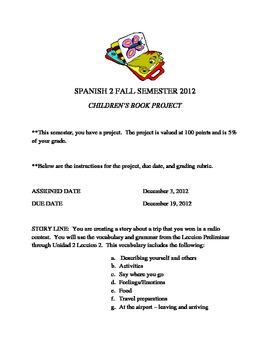 Children's book Spanish Level 2 Project