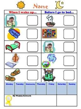 Child's A.M./P.M. Routine Chart