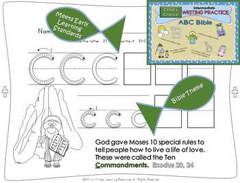 Child's Choice Writing Practice:  ABC BIBLE - Intermediate