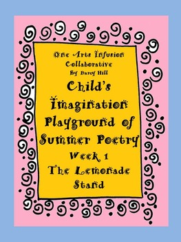 FREE! Child's Imagination Playground of Summer Poetry-Week 1:Lemonade Stand