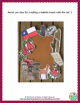 Chile 15 Piece Bulletin Board Set