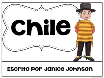 Chile Reader & vocab pages in English & Spanish {Bilingual bundle}
