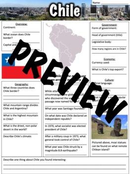 Chile Worksheet