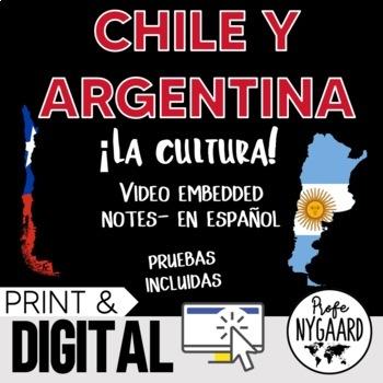 Chile y Argentina Culture- video embedded notes (en español)