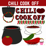 Chili Cook Off Lunch  Digital Clip Art Elements