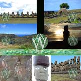 Chile: Easter Island and Moai Photo Clip Art Sampler
