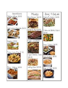 photo relating to Printable Chili's Menu titled Chilis Menu Math