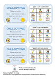 Chill Out Pass - Includes Ways I can calm down