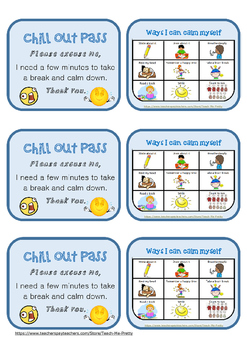 Chill Out Pass *new and updated design*